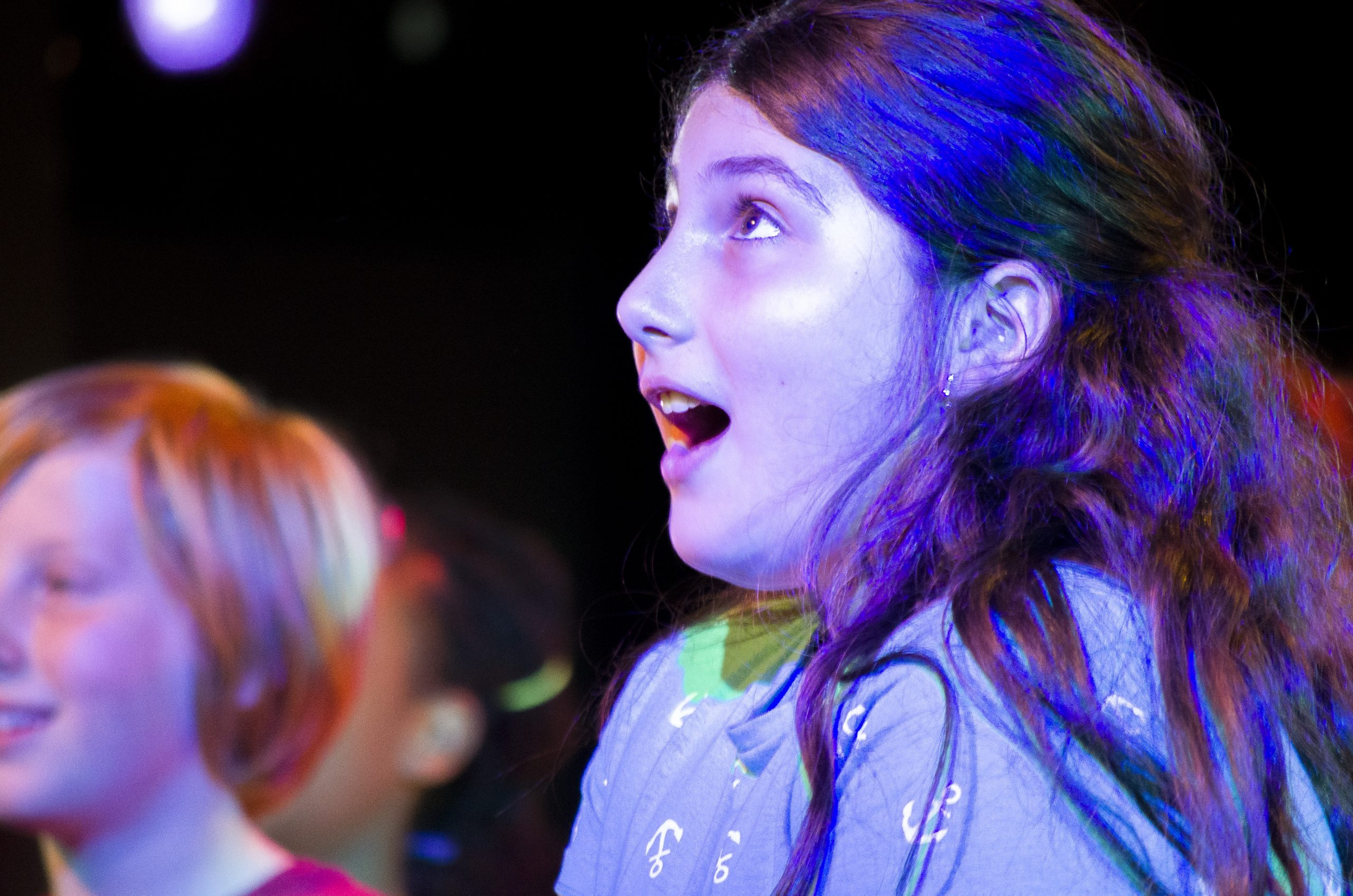 A young girl taking part in Polkas Playhouse in 2018