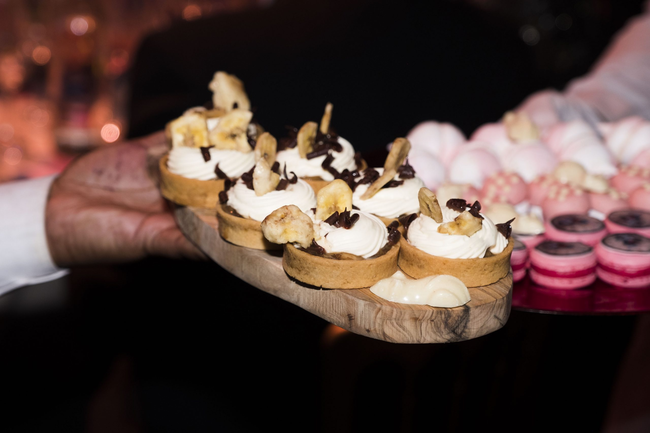 Close up of gala event canape